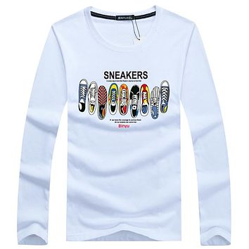 Autumn Top Men Long sleeve t shirt print tops