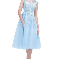 Short Homecoming Dress Cocktail Prom Gown