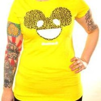 ROCKWORLDEAST - Deadmau5, Girls T-Shirt, Leopard Print