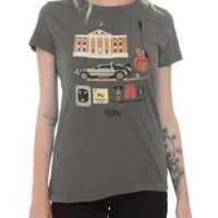 Back To The Future Icons Girls T-Shirt
