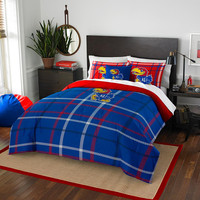 Kansas Jayhawks NCAA Full Comforter Set (Soft & Cozy) (76 x 86)