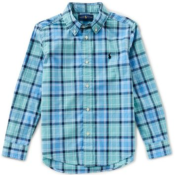 Ralph Lauren Childrenswear Little Boys 2T-7 Long-Sleeve Plaid Shirt | Dillards