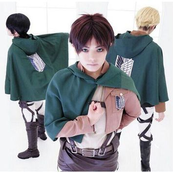 Cos Anime Attack on Titan Shingeki no Kyojin clothes wing of freedoom Eren Levi Scouting Legion Top Cosplay Cloak Cape Coat big