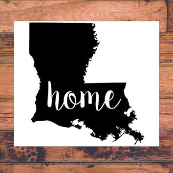 Louisiana Home Decal | Louisiana State Decal | Homestate Decals | Love Sticker | Love Decal  | Car Decal | Car Stickers | Bumper | 110