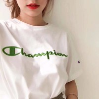 Champion Crewneck T-Shirt With Script Logo