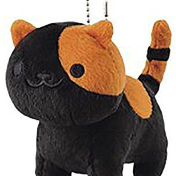 "Neko Atsume ねこあつめ Bandit Small Plush Toy With Bed Japan Special 6"" Dark Grey Vol 4"