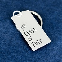Class of 2018 Key Chain - Graduation Gift - Aluminum Key Chain