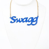 Short Necklace with Swagg Pendant
