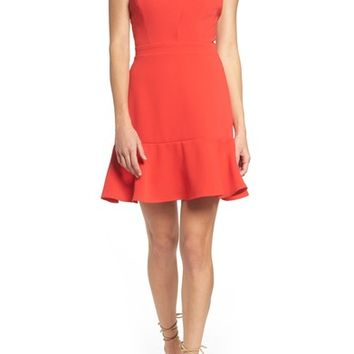 Chelsea28 Cross Front Ruffle Dress | Nordstrom