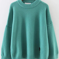Blue Face Patch Sweater