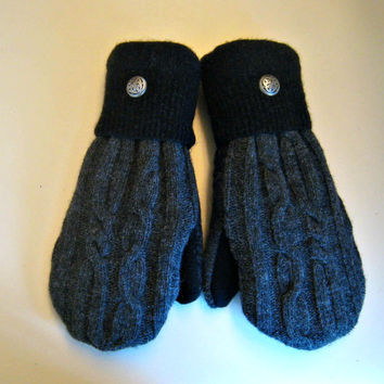 Etsy mittens, recycled sweaters, women's mittens, fleece lined mittens, felted wool mittens, etsy sweater mittens, felt mittens, felted wool