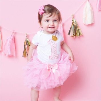 My First Birthday Toddler Baby Girl Unicorn Dresses for Girls Baptism 1 Year Puffy Smash Dress Summer Colorful Unicornio Vestido