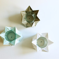 Tealights | Pack of 3 | Handmade Origami Lighting |