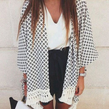 Retro Boho Floral Lace Cardigan Hippie Kimono Coat Blouse Cape Blazer Jacket Top = 5709637953