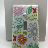 Pastel Floral Light Switch Plate