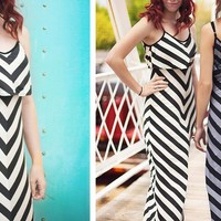 Beautiful Summer Chevron Maxi Dresses - Quick Shipping! - A Daily Boutique & Handmade Deal Website + Weekly Giveaways