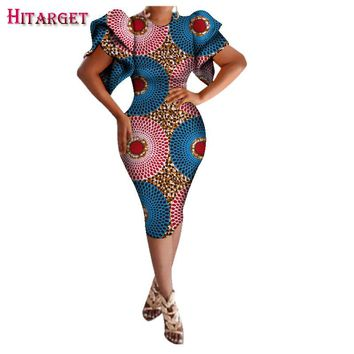 African Ladies Short Sexy Dresses for Women Traditional Print Women