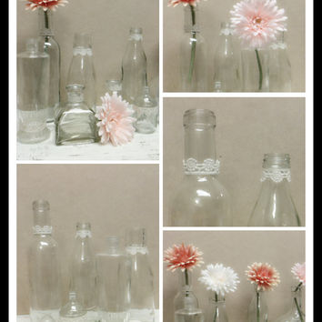 Bottle Collection,Fall Wedding,Wedding Vase,Bud Vase,Wedding Decor,Winter Wedding,Wedding Favor,Bridal Shower,Bottle Vase,Baby Shower