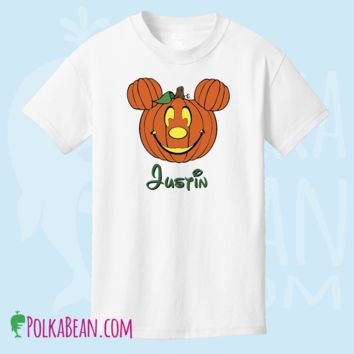 Halloween Mickey Mouse Pumpkin Shirt Personalized T-shirt