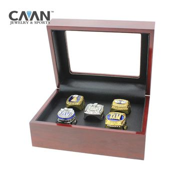Drop shipping Factory Promotions price jewelry New York giants 1980 1990 2000 2007 2011 super bowl Replica Championship Ring set