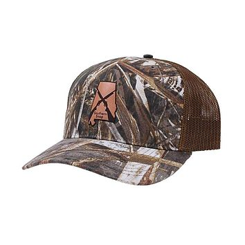 Alabama Leather State Hat by Southern Snap Co.