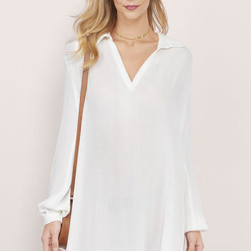 Golden Coast Deep V Shirt Dress