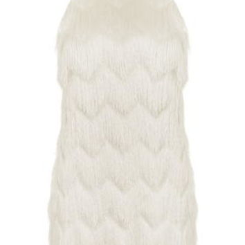 Fringe Slip Dress - Ivory
