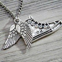 Percy Jackson & The Olympians: winged flying shoes necklace
