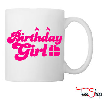 birthday girl new with present Coffee & Tea Mug
