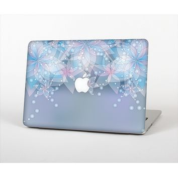 The Translucent Glowing Blue Flowers Skin Set for the Apple MacBook Air 11""