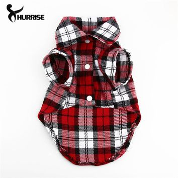 Plaid Dog Clothes For Small Dogs 2017 New Life Vest Clothing For Puppy Cats T-Shirt Summer Clothes For Dogs/Cats Pet Product