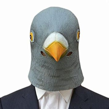 Factory Price! New Pigeon Mask Latex Giant Bird Head Halloween Cosplay Costume Theater Prop Masks Hot