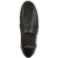 SAINT LAURENT - Classic skate slip-on sneakers in black leather | Selfridges.com