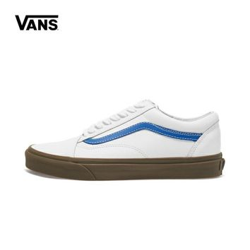 Vans Original Old Skool Unisex Skateboard Shoes Men's Classic White Casual Cortical Women's Sneakers Couples Fencing Shoes