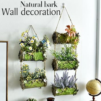 NATURAL WOODEN BARK WALL HANGING