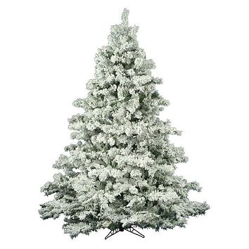 4.5 Ft Faux Flocked Unlit Christmas Tree