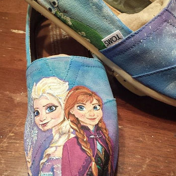 Disney Frozen hand painted TOMS shoes
