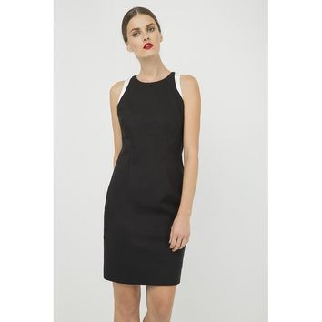 Black Round Neck Sleeveless Dress