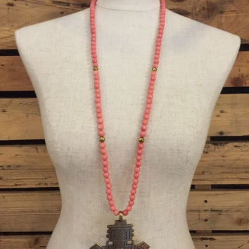 Betsy Pittard Designs- Carla Necklace- Pink