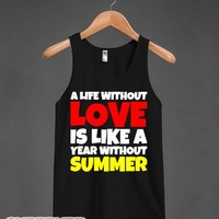 A Year Without Summer-Unisex Black Tank