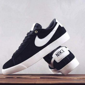 HCXX N260 Nike Zoom Blazer SB GT Low Skate Shoes White Dark Blue