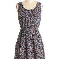 ModCloth 90s Mid-length Sleeveless A-line Fable Manners Dress