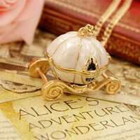Disney Cinderella Carriage Necklace from Zefashionista