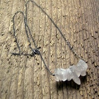 Rose Quartz Necklace Sterling Silver Bohemian Jewelry