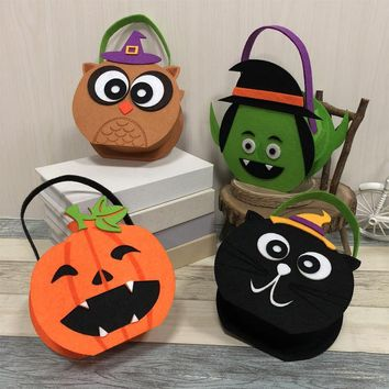 Dazzling Toys Pumpkin Candy Holder Trick-or-treat Halloween Candy Bags Gifts Birthday Decoration Kids Favor Drop Shipping
