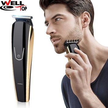 Professional Electric Men Shaver Rotary Shaver Cordless Beard Clippers Nose Hair Trimmer Men's Hair Trimmer Rechargeable Battery