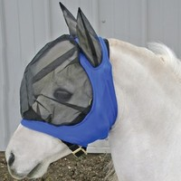 Heavy Duty Mini Comfort Plus Fly Mask in Miniature Blankets