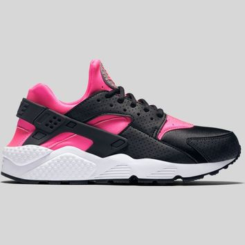 AUGUAU Nike Wmns Air Huarache Run Black Pink Blast