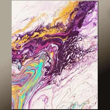 Abstract Canvas Art Print Contemporary Abstract Art by Destiny Womack - The Way to Heaven - dWo