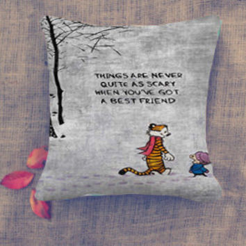 Calvin and Hobbes Quote Pillow Case/ Pillow Cover/ 16 x 16/ 18 x 18/ 16 x 24/ 20 x 30/ 20 x 36